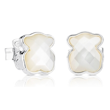 315113560 Silver TOUS Bear Earrings Pearl