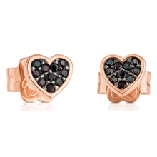 414933510 Pink Vermeil Motif Earrings Heart