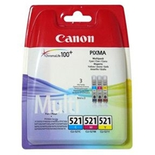Canon Ink CLI-521C/M/Y Value Pack