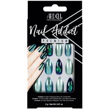 Ardell Nail Addict Green Glitter Chrome