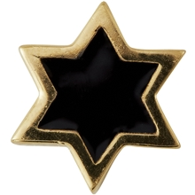 Design Letters Enamel Star Charm Gold Black