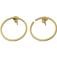 Design Letters Earring Hoops 24 mm Gold