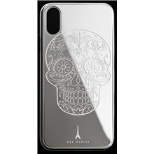 Les Fréres Silver Skull iPhone Case