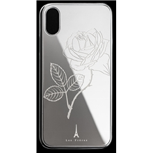 Les Fréres Silver Flower iPhone Case