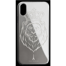 Les Fréres Silver Lion iPhone Case
