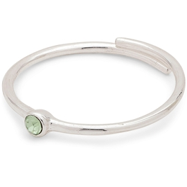 Lulu Stack Ring Green Crystal