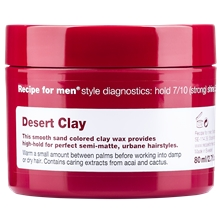 Recipe For Men Desert Clay Wax